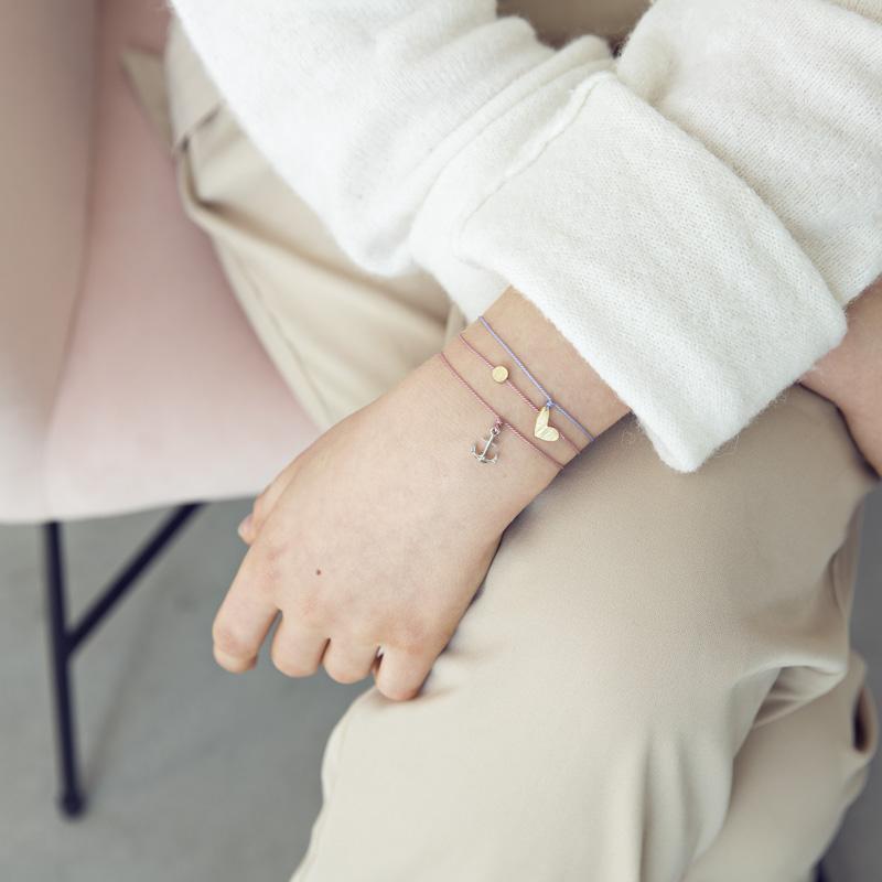 Bracelet porte-bonheur ancre silver — Les Fleurs